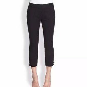 Kate Spade Black Jackie Bow Cropped Pants